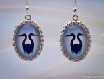 Blue Heron photo jewelry earrings